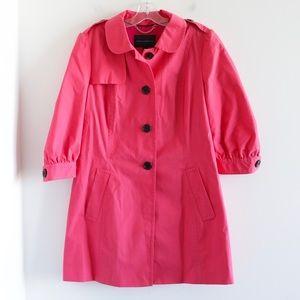 Banana Republic bubblegum pink trench pea coat L